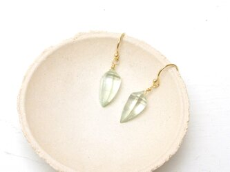 1st anniversary sale!! K10YG Green Amethyst pierceの画像
