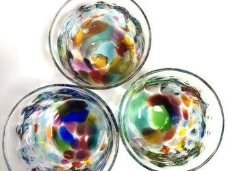 キラリ 虹泡 ロックグラス ⑵の画像