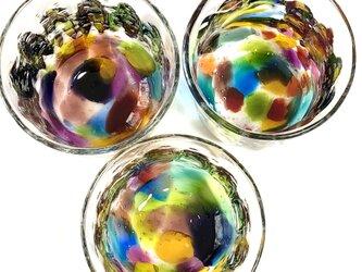 キラリ 虹泡 ロックグラス ⑷の画像