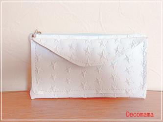 白星☆夏用財布(受注製作)の画像