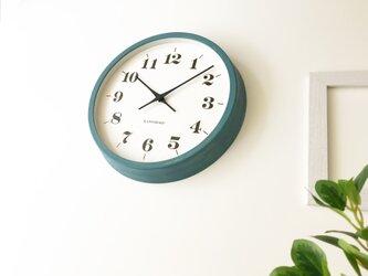 KATOMOKU muku round wall clock 12 ブルー km-97BRC 電波時計 連続秒針の画像