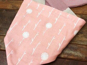 【受注制作】犬よう クールバンダナ Sサイズ Pink Floral ★ USAコットン 60cmの画像