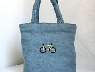 ふかふかトート 自転車の画像