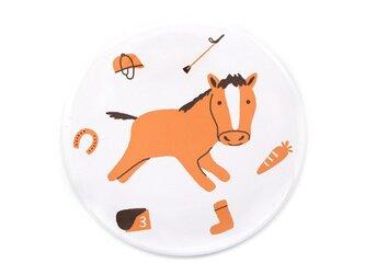コンパクトミラー(馬と馬具とにんじんと)の画像