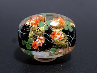 金魚のとんぼ玉(ガラス玉)金箔入りの画像