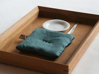Pot Mat  [緑青ろくしょう]リネンの画像