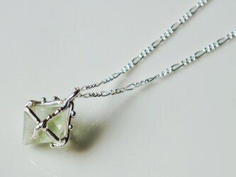 1点物★fluorite necklace(green*sv)の画像