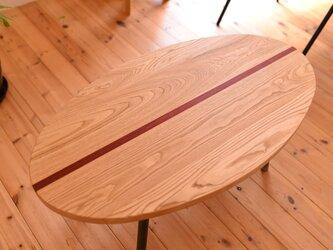サーフボード型ローテーブル・インダストリアル・西海岸インテリアの画像