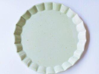 波型リムのケーキ皿(クリーム色)の画像