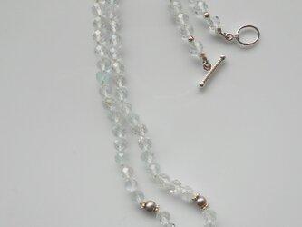 ホワイトトパーズと淡水パールのきらめきネックレス の画像