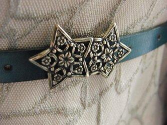 真鍮ブラス製 スターデザインレトロゴシック調帯留め 着物浴衣の帯締めの飾り・ブレスやチョーカー飾りにの画像