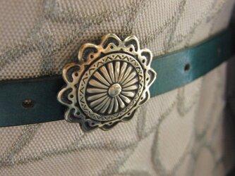 真鍮ブラス製 大正ロマン調レトロボタン型調帯留め 着物浴衣の帯締めの飾り・ブレスやチョーカー飾りにの画像