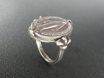 フランス奇跡のメダイのリング - silverの画像