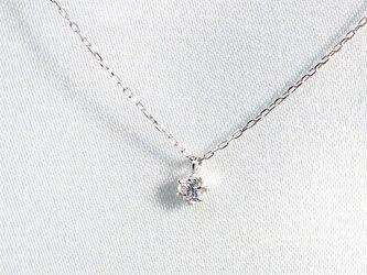 K18WG ダイヤモンドペンダント 0.10ctの画像