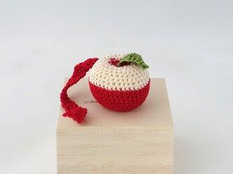 カットリンゴのブローチの画像