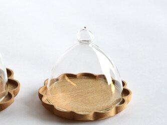 ならのトレーS+ガラスドームの画像
