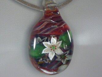 ゆり、一輪NO.1(ガラス、ペンダント、花)の画像