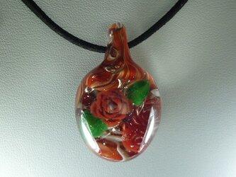 バラ、一輪NO.1(ガラス、花、ペンダント)の画像