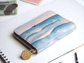 ラウンドファスナー コンパクト財布(ウェーブ)牛革  小さい ILL-1145の画像