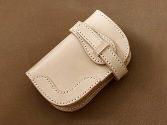 本革サドルレザーの折財布(バイカーズハーフ)【受注製作】の画像