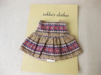 sokko's Dress オード色に花柄のワンピーススカートの画像