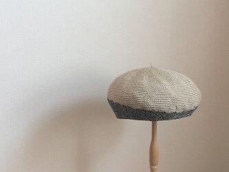 麻とコットンのベレエ帽・circleの画像