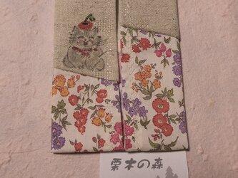 ポケットティッシュケース~林檎を頭に載せた猫~の画像