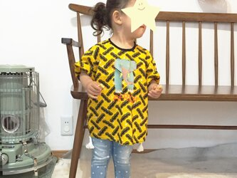 ゾウさん刺しゅうが楽しい♪アフリカンバティックのTBL 80cm / 90cm / 100cm 黄色の画像