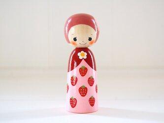 [conocokeshi]◉フルーツこけし◉苺ちゃん◉13の画像
