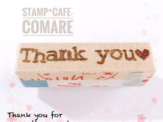 Thank you♡【5cm×8ミリ】タイプライター風の画像