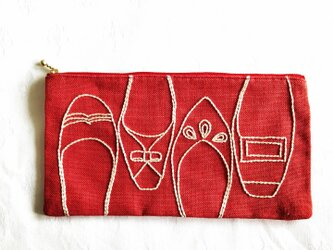 shoe shoe shoeポーチ(あか)の画像