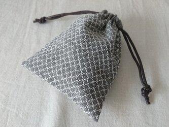 刺し子の巾着【米刺し】の画像