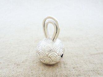 卓上の鈴 『 青海波 』 銀製(シルバー925)の画像