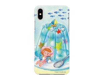 夏のペンギンとお昼寝_right iPhoneハードケースno.150の画像