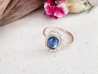 12号【silver925】小粒 kyanite ringの画像