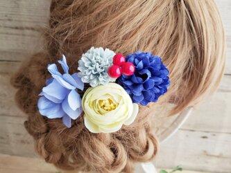花yurari キュート姫 お花の髪飾り5点Set No519の画像
