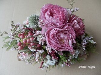 atelier blugra八ヶ岳〜小さな白樺小枝のテーブルアレンジBの画像