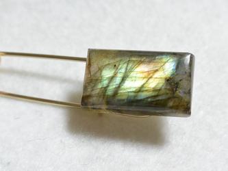 (1点もの)天然石キルトピン・ラブラドライトの画像