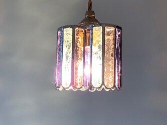 『ヒーリング ナイト』ハート型ランプ ロゼ&ヴィオラパープル BayViewの画像