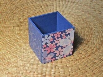 桜のペン立て(ブルー)の画像