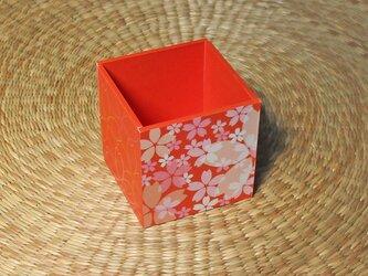 桜のペン立て(オレンジ)の画像