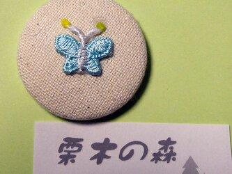 蝶々缶ブローチの画像