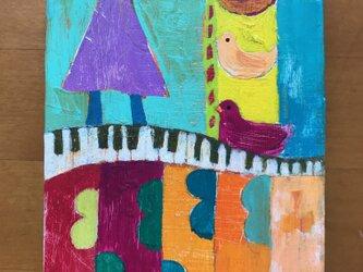 ポストカード ピアノの画像