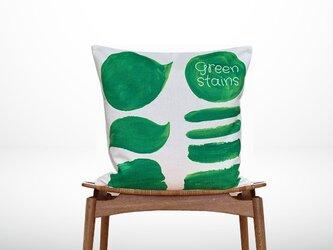 森のクッション green stains design -ヒノキの香り-の画像