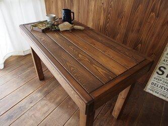 ~北欧風アンティーク調~  ダイニングテーブルの画像