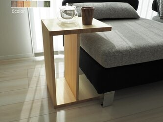 縦横使える 2wayサイドテーブル(ミニテーブル/ソファテーブル/タブレットデスク)の画像