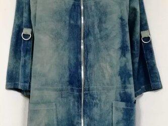本藍 チュニック・コート LL~3Lの画像