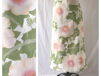 【和柄】白南風の巻きスカート85cm(芙蓉)の画像