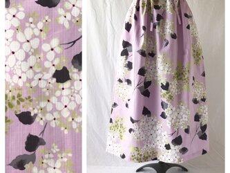 【和柄】時鳥スカート85cm(紫陽花:アルカリ性の紫ピンク)の画像