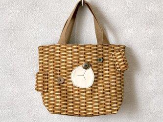 新作★reversible mini tote bag【bear】の画像